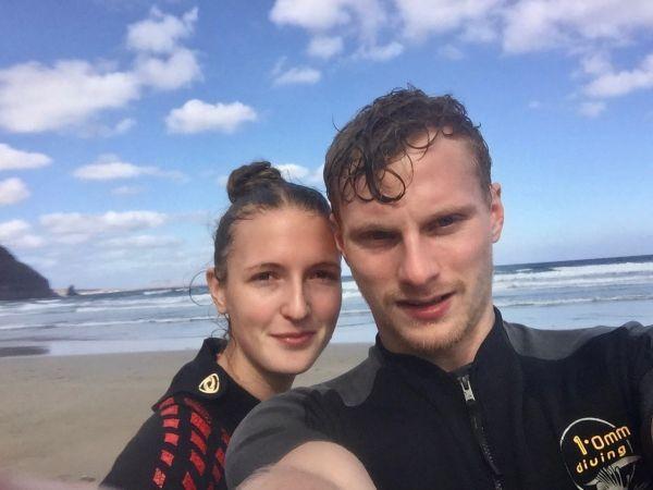 Am Strand von Orzola