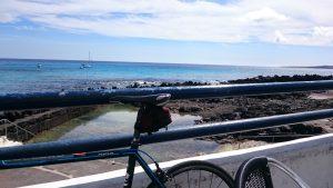 Bike-Boxen-Stopp mit dem herrlichen Blick im Norden von Lanzarote