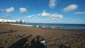 Strand in Arrieta am Ferienhaus