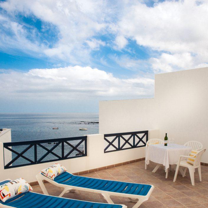Dachterrasse des Ferienhauses Lanzarote