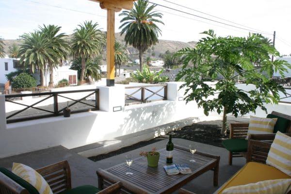 Dieses schöne, detailverliebt restaurierte kanarische Landhaus liegt im Tal der tausend Palmen – Haria!