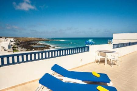 Dachterrasse mit Sonnenliege- Punta Mujeres