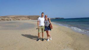 Einzigartiger Sandstrand auf Lanzarote