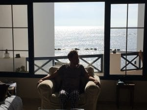 Blick aus dem Ferienhaus in Punta Mujeres
