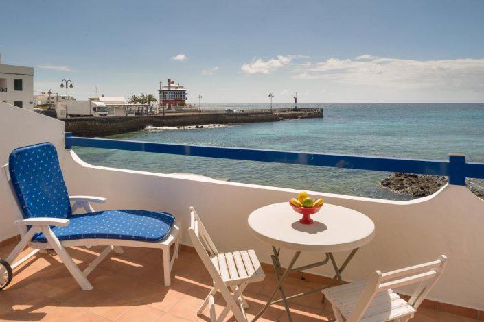 Terrassenblick von der Ferienwohnung Arrieta