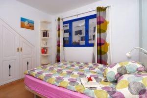 Schlafzimmer im Erdgeschoss Im Ferienhaus am Meer Lanzarote