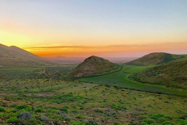 Gruene Insel Lanzarote auf einer Wanderung