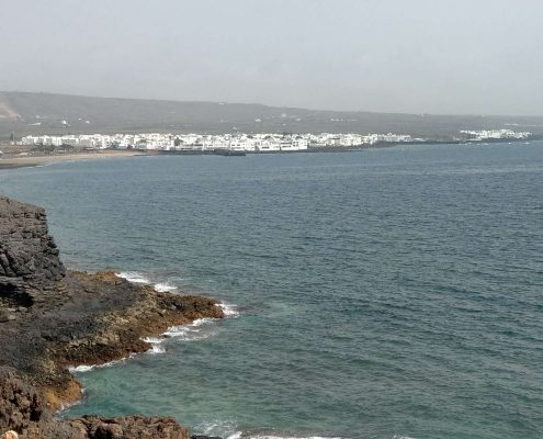 Blick auf Arrieta Lanzarote Wandern