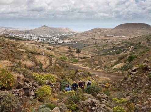 Aufstieg von Haria Wanderung Lanzarote