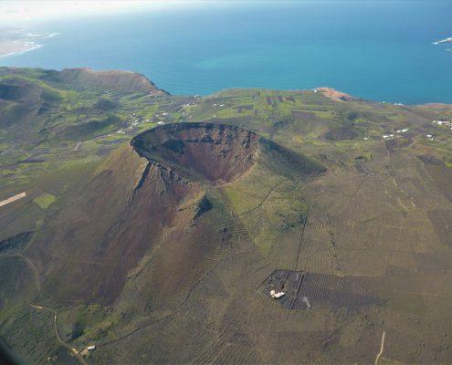 Monte Corona beim Drachenflug auf Lanzarote