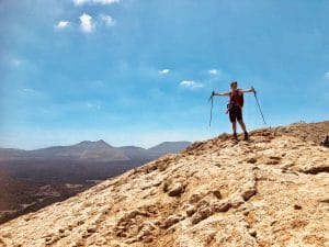 Wanderung Caldera Blanca Lanzarote Ferienhaus