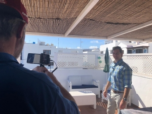 Filmdreh für die Vorstellung der Ferienhäuser von Lanzarote- Individual