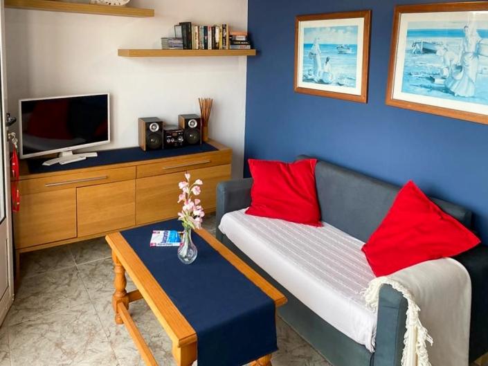 Wohnzimmer Casa la Playa Arrieta